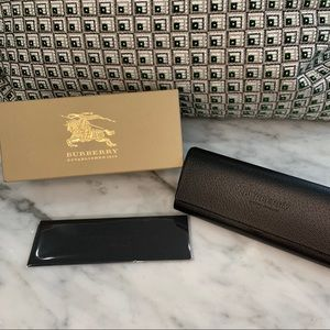 Burberry Eyeglass Case, Box and Cleaning Cloth